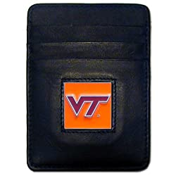 NCAA West Virginia Mountaineers Leather Money Clip/Cardholder Wallet