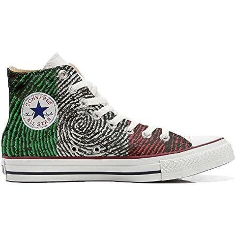 Converse All Star zapatos personalizadas (Producto Artesano) con bandera Americana (USA)