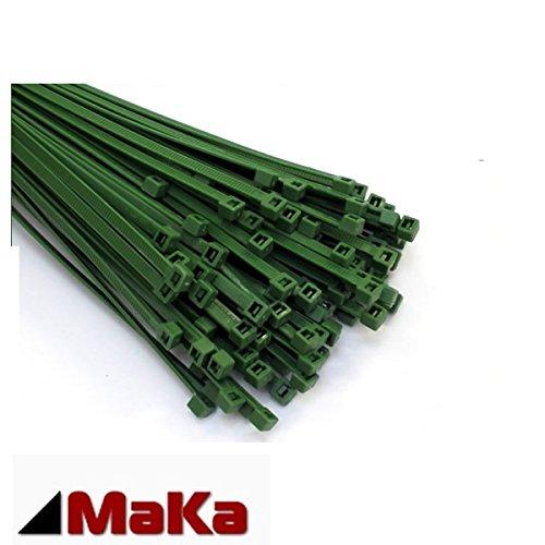 Grüne Kabelbinder (200 Stck Kabelbinder grün 200 x 4,8 mm INDUSTRIEQUALITÄT / EUROPAWARE)