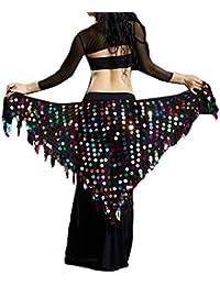 bcc1d0483470 Guiran Ceinture Jupe Tenue Foulard Danse du Ventre Triangle Hanche Costume  Professionnel Mit Sequins