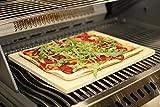Premium Pizzastein Backstein Pizza Flammkuchen Steinofen rechteckig 38x30x1,5 cm von Gartenwelt Riegelsberger