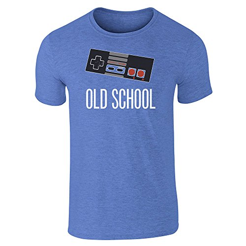 Pop Threads  Herren T-Shirt - Heather Royal Blue