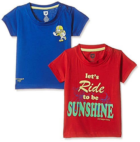 612 League Baby Boys' T-Shirt (Pack of 2) (ILS17I34006-12 - 18 Months-RED)
