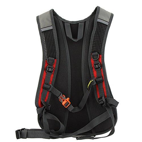 Lixada Wasserabweisend Schulter Fahrrad Rucksack für Mountain Radreisen Wandern Camping Wassertasche läuft Rot