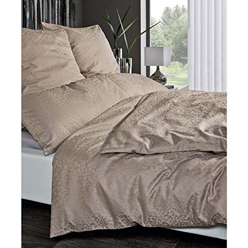 Estella Damast-Bettwäsche Jamal, Bettdeckenbezug: ca. 140cm x 200cm, Kissenbezug ca. 70cm x 90cm und zusätzlich Ein Gratis-Kissenbezug in 40cm x 80cm, 100% Baumwolle