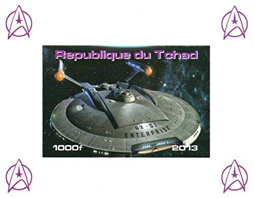 Star Trek Sammler - Raumschiff Enterprise NX - 01 Imperforate Miniaturbriefmarkenbogens - Großartiger Zustand und frisch - 2013 / Tschad / 1000F