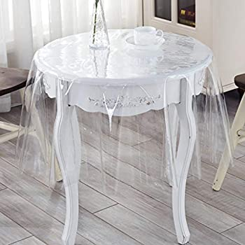 120x150cm Nappe Transparent Transparent couverture de protection jardin couverture vinyle 0,2