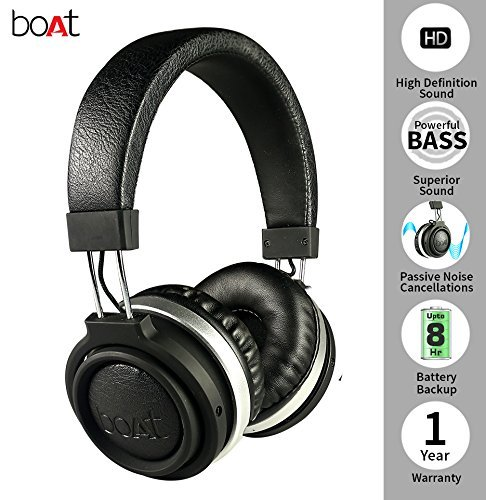 Boat Rockerz 470 Wireless Headphone (Charcoal Black)