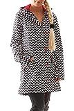 Blutgeschwister Wild Weather Long Damen Jacke Mantel, Größe:XS, Farbe:Schwarz (Black Beauty)