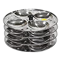 Raj Stainless Steel Idli Stand-SIS004, Silver
