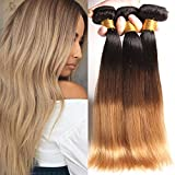 PURUN Brasilianisch Human Haare Long Straight Hair Bundle Golden Honey Blond 1b 27 Remy Echtes Haar Extension Prime 20 22 24 inches