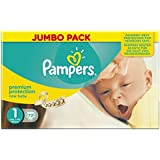 Pampers New Baby Size 1 (Newborn) Jumbo Pack, 72 Nappies