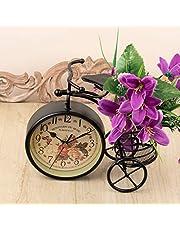 A Vintage Affair Black Vintage Bicycle Clock Bike Shape Clock Child Kids Bicycle Clock with Holder for Home Decoration.