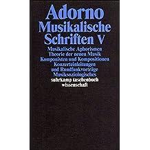 Adorno, Theodor W., Bd.18 : Musikalische Schriften V.