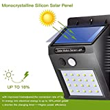 Efinito 20 LED Bright Solar Outdoor Security Lights with Motion Sensor