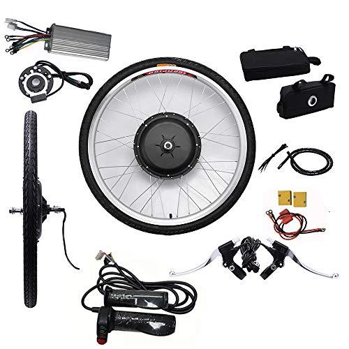 """LianDu 26\"""" Kit Ruota Anteriore Bici Elettrica 48V 1000W Kit di Conversione Ruota Anteriore Bici Elettrica"""