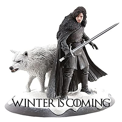 Snow and Wolf Game of Thrones Sticker, Winter is Coming Decals, Laptop, iPhone, Car, Window, Fridge Stickers