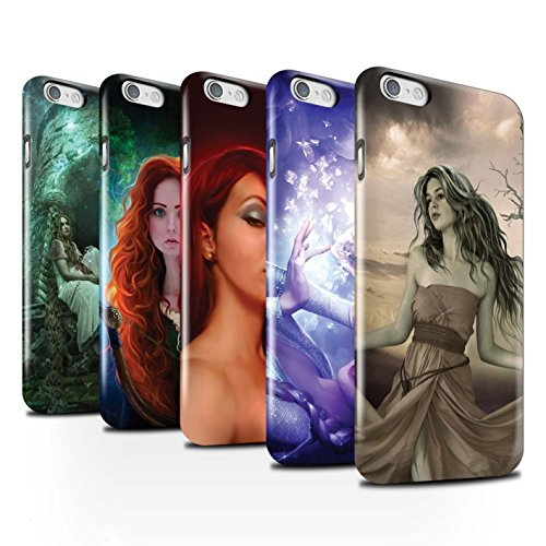 Officiel Elena Dudina Coque / Clipser Brillant Etui pour Apple iPhone 6 / Pack 5pcs Design / Caractère Conte Fées Collection Pack 5pcs