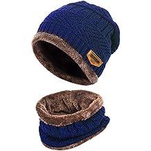 Womdee Set Cappello E Sciarpa per Bambini Inverno 880a92016b52