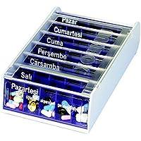 ANABOX 7 Tage Wochendosierer blau türkisch 1 St preisvergleich bei billige-tabletten.eu