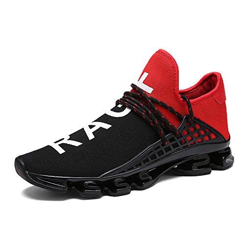 XIANV Freizeitschuhe Für Männer Mode Licht Atmungsaktive Billige Lace-up Männliche Schuhe Super Licht Sneaker (40, rot)