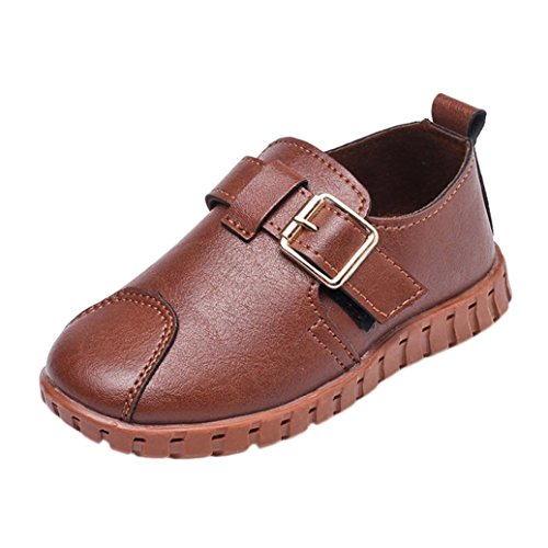 Transer® Kids Boys Buckle School Shoes, Toddler Kids Soft Sole Sneakers