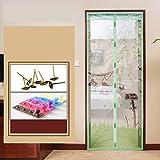 Stumme fliegengitter moskito, Magnetische bildschirm tür sommer heavy-duty mesh vollformat velcro home-bildschirm tür siebgewebe-I 90x200cm(35x79inch)
