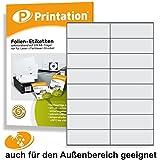 Etiketten 105 x 37 mm WETTERFEST weiß matt auf A4 - 2 x 8 Stück / Seite 160 Folienetiketten 105x37