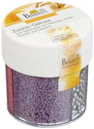 Birkmann 504042 Zuccherini decorativi, 3 tipi, 90 g