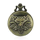 Para hombre Retro Punk Lobo cadena de reloj de bolsillo con mecanismo de cuarzo yahe niños...
