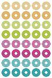 Avery Zweckform 63004 Circle Permanent Blue, Green, Magenta, Orange 40pc(s) self-adhesive label - Self-Adhesive Labels (Blue, Green, Magenta, Orange, Circle, Permanent, Foil, 1.6 cm, 10.1 cm)
