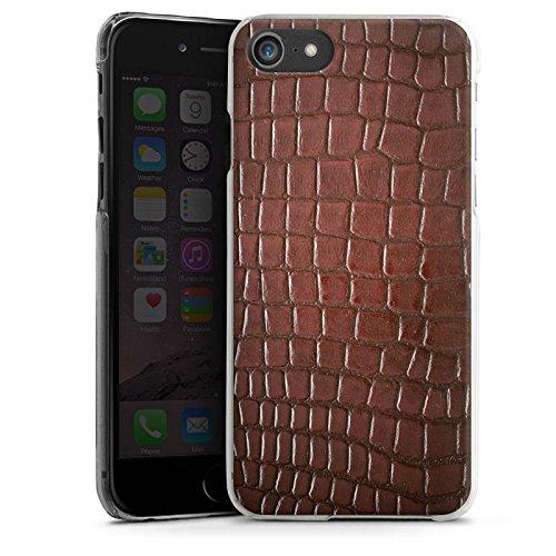 Apple iPhone X Silikon Hülle Case Schutzhülle Krokodilhaut Look Krokodil Hard Case transparent