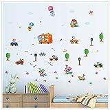 YSFU Wandtattoo Wandaufkleber Kinder Kinderzimmer Junge Schlafzimmer Wandtattoos Fenster Poster 3D Wandtapete Abnehmbare Umwelt