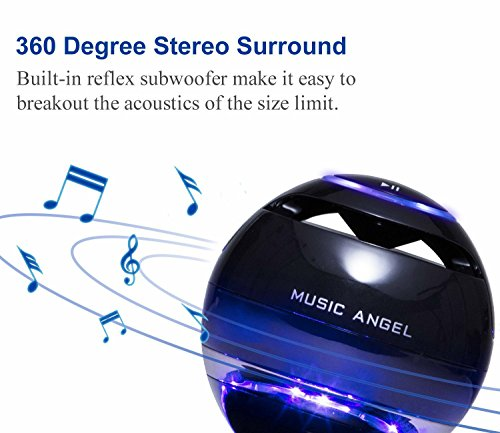 Levitating-Bluetooth-Speakers-MUSIC-ANGEL–Multi-color-LED-Portable-Wireless-Bluetooth-40-Floating-Levitation-Maglev-Speaker-360-Degree-Rotating-with-Build-in-Microphone-Touchable-Panel