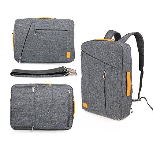 WIWU 3 in 1 Schultertasche Handtasche Laptop Rucksack für 15 Zoll Schulrucksack Umhängetasche mit großem Laptopfach und Zubehörfächer passt Laptops Notebooks MacBooks (Grau, 15 Zoll) Cabrio Laptop-computer