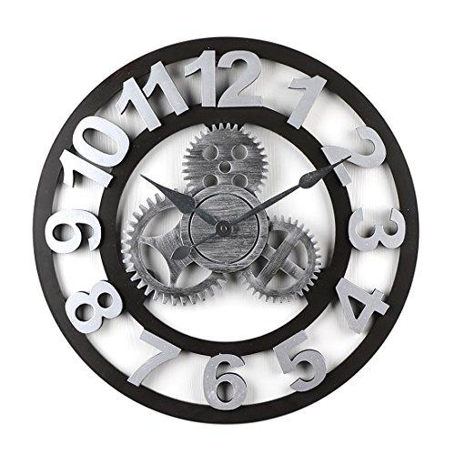 OviTop 19,7Zoll Wanduhr Im Industrie-Design Wanduhr Vintage Wanduhr Lautlos Wanduhr Groß Wanduhr Digital 50cm Wanduhr XXL für Küche Schlafzimmer Wohnzimmer