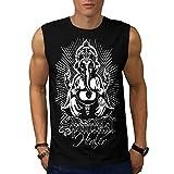 Spiritual Divine Fantasy Men L Sleeveless T-shirt | Wellcoda