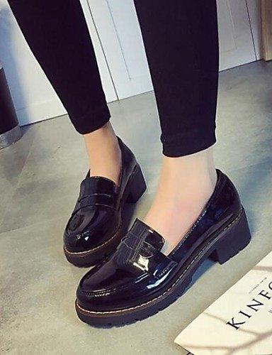 ZQ gyht Scarpe Donna-Sneakers alla moda-Formale / Casual-Punta arrotondata / Comoda-Quadrato-Finta pelle-Nero / Beige , black-us8 / eu39 / uk6 / cn39 , black-us8 / eu39 / uk6 / cn39 black-us5.5 / eu36 / uk3.5 / cn35