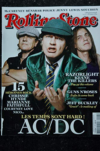 ROLLING STONE 005 T 01024 Cover AC/DC Guns n'roses Cartney Bénabar Police Souchon (Stone Rolling Magazin-cover)