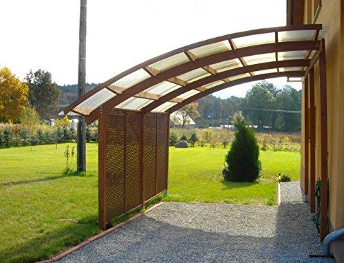 G&C Ludlow Carport aus Holz mit PVC Überdachung – Maße: 3,21 m x 5,6 m