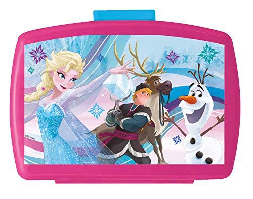 POS 24936088 - Brotdose Premium mit Einsatz, mit Disney Frozen Motiv, ca. 16 x 12 x 6,5 cm, aus Kunststoff, bpa- und phthalatfrei, ideal für das Pausenbrot, für Jungen und Mädchen
