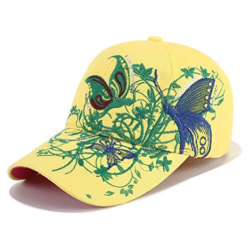 e Version der mit Pailletten bestickten Baseballkappe Schmetterling Bestickt Entenzunge und Lippe Bedruckte Flut Hut Motorhaube Sonnenschutz Sonnenhut 5 56-62cm ()