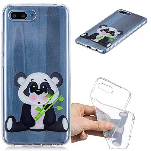 Nadoli Transparent Hülle für Huawei Honor 10,Bambus Panda Malerei Muster Crystal Kirstall Ultra Dünn Durchsichtige Schutzhülle Bumper für Huawei Honor 10,Bambus Panda