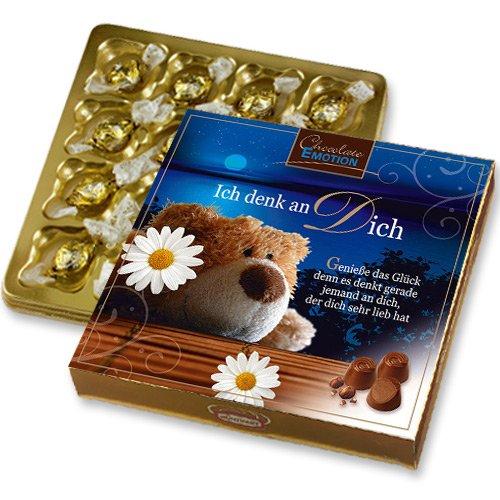 Pralinen Geschenk mit 16 Nougat Pralinen Ich denk an Dich