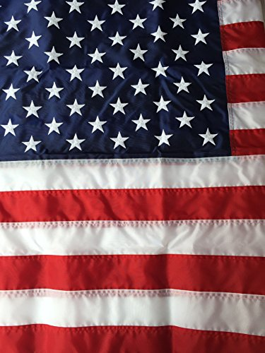 Flags Poles And More 3'x5' Best Nylon US Flag Made in USA 3ftx5ft American Flagge