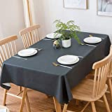DSAQAO Nappes de Couleur Unie imperméable PVC, Huile-Preuve Essuyer Table Cloth Nappes Plastique-A 80X120cm(31x47inch)