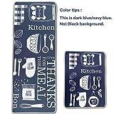 Leebei Küchenmatten Anti-Rutsch Waschbar Flanell Fußmatte Innenbereich Teppiche Küchenteppich Küchenläufer Matte (Küche, 15,7×23,6 Zoll + 15,7×47,2 Zoll) - 5