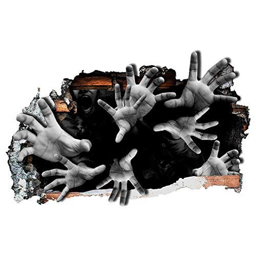 Halloween Dekor Zu Hause Waren - Abnehmbare Wandsticker Halloween 3D Horror Hand
