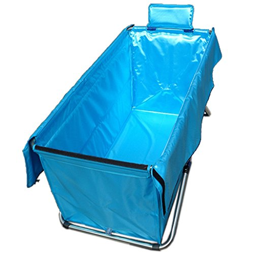 Faltende Badewanne JCOCO Faltbare Badewannen-Erwachsene Haushalts-Verdickung übergroße tragbare Isolierung haltbares einfaches, 130 * 56cm zu säubern (Farbe : 2) -