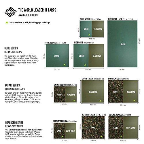 51NjTYbT4gL. SS500  - Aqua Quest Guide Tarp - 100% Waterproof Ultralight RipStop SilNylon Backpacking Rain Fly - 3x2, 3x3, 4x3, 6x4 Green or…